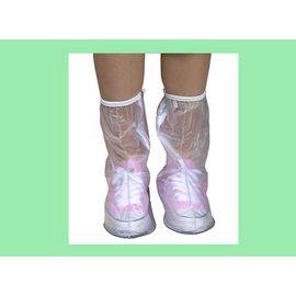 ~蓁蓁大賣場~女用馬靴型防雨鞋套~透明~防水~防滑~有反光片.可增加夜間安全
