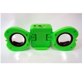 蘋果造型折疊式迷你隨身喇叭( iPod、MP3、CD Player均可使用)
