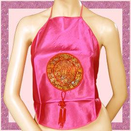 中國圖紋繞頸綁帶肚兜.流行女裝 C95-0016
