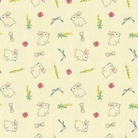 C4139~花紋紙~小兔子 A4 180P 1包25張^(單面^)當背景、打孔器創作素材