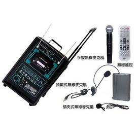 INYOUNG移動式充電擴音機PA~80DV,DVD座╱USB╱頭戴.領夾.手握無線Mic