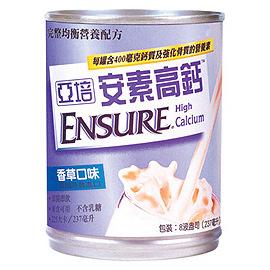 香草Ensure亚培安素高钙液 237ml x 24入(限邮寄无法超商取货)