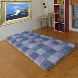 綺思美-[羅馬文化][5公分(厚)聚酯纖維棉]3.5呎x6.0呎-冬夏兩用-上等[藺草日式三折透氣床墊]單人加大