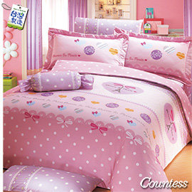 Countess~3238~甜心鐵塔~雙人4件式床包兩用被組