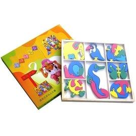 【精選認知玩具】=超可愛=動物拼圖積木盒 / 3歲以上適用