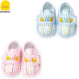 Qbaby 黃色小鴨 直條學步鞋