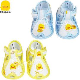 Qbaby 黃色小鴨 格狀嬰兒學步涼鞋