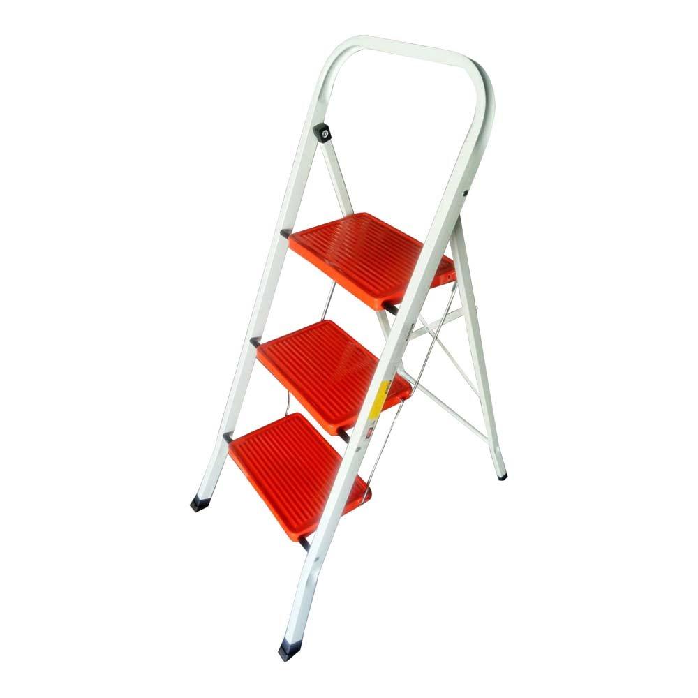 3階摺疊式工作梯/豪華梯  收納方便輕便好用  贈送工作手套與防塵口罩