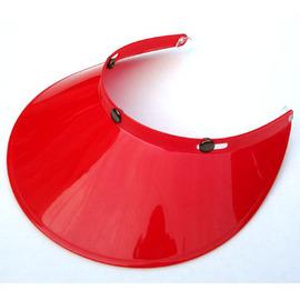 機車安全帽 遮陽抗UV帽簷^(紅色^)