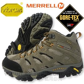 【MERRELL 邁樂】男中筒新款 Moab Mid Gore-Tex Xcr 100%防水透氣專業健行.登山鞋.健走.休閒旅遊-(送多功能置鞋袋)( 非LA NEW) #86901