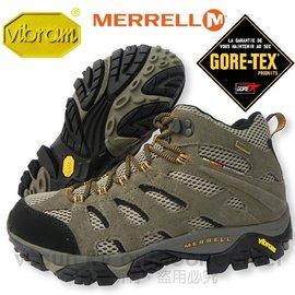 【美國 MERRELL】男中筒新款 Moab Mid Gore-Tex Xcr 100%防水透氣專業健行.登山鞋.健走.休閒旅遊( 非LA NEW)_棕/黑 86901
