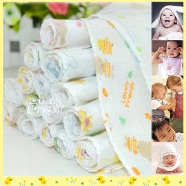 純棉雙層紗布巾/手帕 10條一組(包)【新生兒必備】【HH婦幼館】
