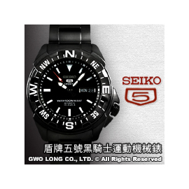 SEIKO 精工錶 國隆 SNZE83J1 黑色騎士_ 機械錶_SPORTS系列 版_值得