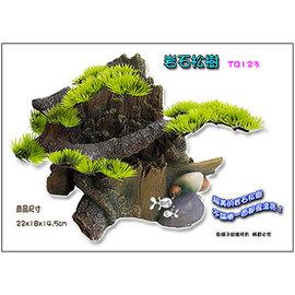 ~魚舖子~造景飾品^^^^岩石松樹TB123∼超漂亮、可讓魚兒穿梭躲藏, 賣