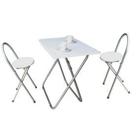 【愛家】耐重型[長方形]折疊桌椅組(一桌二椅)-二色可選-XR-081+2椅