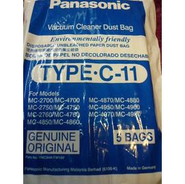 原廠公司貨【德國製】國際牌《吸塵器集塵袋(C-11)》 Panasonic (MC-4950)(MC-4700) ↗3包15入↗