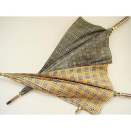 美麗小花蘇格蘭格子紋晴雨傘自動傘 2支 長傘直傘雨傘