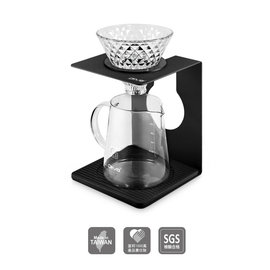 【超值組合】日本 Mila 手沖滴漏式 101 咖啡壺組 【含濾杯、量匙、濾紙40入、耐熱玻璃杯】