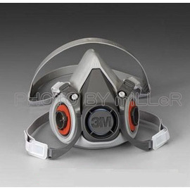~米勒線上 ~3M 6200 半面罩防毒面具 雙罐式 加購濾毒罐更