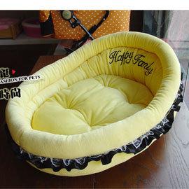 寵物睡床粉嫩寶貝天鵝絨搖籃娃娃床睡窩