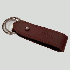 NAPPA 精緻純 牛皮皮件 NA~K10001~DR 鑰匙圈 ^(深紅色小牛皮皮革用品^