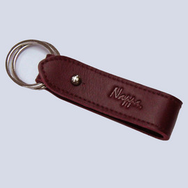NAPPA 精緻純 牛皮皮件 NA~K10001~RD 鑰匙圈 ^(紅色小牛皮皮革用品^)