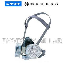 ~米勒線上 ~  重松 GM28 雙罐式半面罩防毒面具 加購濾毒罐更