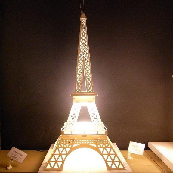 巴黎铁塔diy造型纸雕