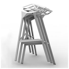 義大利 Magis Stool One 結構 高腳椅 高尺寸(紅色  白色)