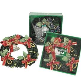 【X`mas專櫃精品】超級聖誕禮物~~6吋金蔥聖誕花圈