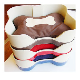 上市 寵物睡窩骨頭型皮革睡窩
