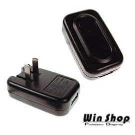 【Q禮品】AC轉USB變壓器110-240V轉DC6V國際電壓,各種鋰電的MP3/MP4