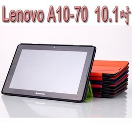 【三折斜立】聯想 Lenovo A10-70/A7600/A10-80/A7800 10.1吋 平板卡斯特側掀皮套/翻頁式保護套/保護殼/立架展示