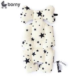 韓國【 Borny 】 全身包覆墊(推車、汽座、搖椅適用) (白星星)