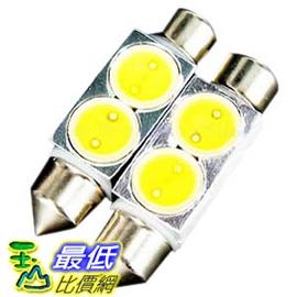 _a~ 有 ~馬上寄  高亮度 2W 雙尖型 2 LED 燈 白光 36mm 2入 牌照燈