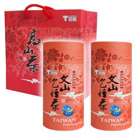 T世家~罐裝茶葉組~ 茗茶~文山包種茶~125公克x2罐 組