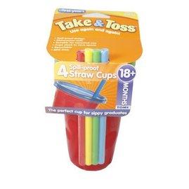 美國【The First Years】Take&Toss 學習小吸管(補充包/4入)