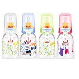 德國【NUK】PP一般印花奶瓶110ml(1號奶嘴)