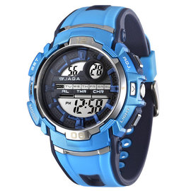 M937 捷卡多 錶 藍 黑 白藍  JAGA 電子錶 冷光 錶有 風