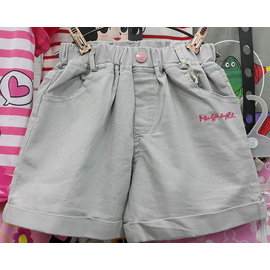大童女孩 彈性牛仔短褲 淺桃紅 120~165cm  !