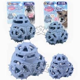 ~ DoggyMan.~藍色立體三角~犬用益智玩具,可塞入零食讓狗狗動動腦又可清潔口腔喲1