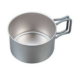 日本製造 EVERNEW 最新 鈦合金個人鍋具(大斷熱杯).鈦炊具.重:60g # EBY265