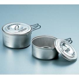日本製造 EVERNEW 超輕量鈦合金陶鍋具組(M).鈦炊具.極輕處理.重:245g【優惠專案】