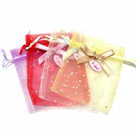 【花現幸福】10*12七彩亮鑽紗袋20入100元  婚禮小物  紗袋  喜糖  送客禮