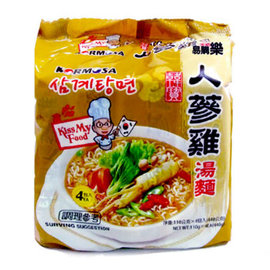~易購樂~韓國KORMOSA韓寶人蔘雞湯麵 4入^(包^)~Q彈麵條 養生美味^~