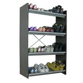 78公分(寬)X116公分(高)-四層-開放式-鞋架(深胡桃+古典灰)SW75L4-DW+GY
