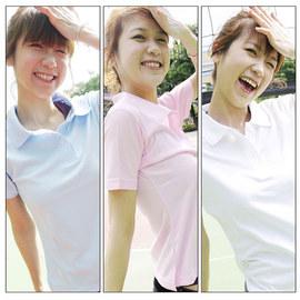 台灣製造短袖女款POLO衫(三磚 吸濕排汗衫 布料纖柔 免運【03320578】≡排汗專家≡