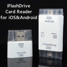 【雙頭讀卡、i-FlashDrive】Apple iPhone6/5S/5/SE/Plus/iPod Touch 5 & Android 手機讀卡轉接器/記憶卡/Micro SD