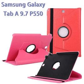 【旋轉、斜立】三星 SAMSUNG Galaxy Tab A 9.7 SM-P550/P555 平板專用 荔枝紋皮套/書本式保護套/側掀支架展示