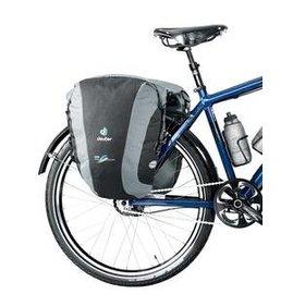 【德國 Deuter】DS Pack Pack 48L 自行車前馬鞍包.單車馬鞍袋.車包.環島旅行袋.前後車輪袋 (一對) 黑/灰 32748